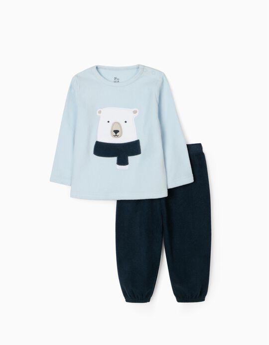 Pyjama Polaire Bébé Garçon 'Bear', Bleu