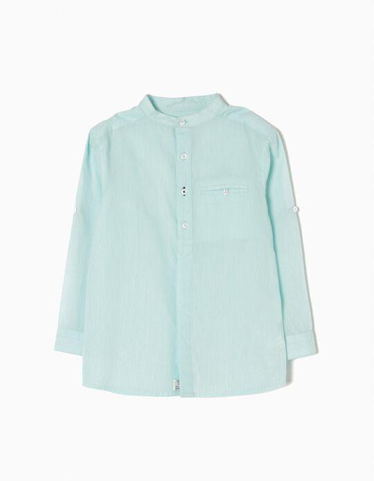 Camisa Rayas Verdes B&S