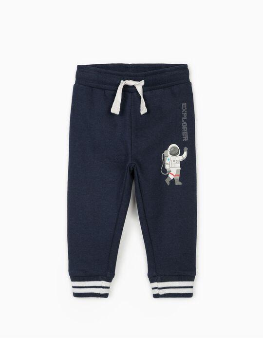 Pantalón de Chándal para Bebé Niño 'Astronaut', Azul Oscuro
