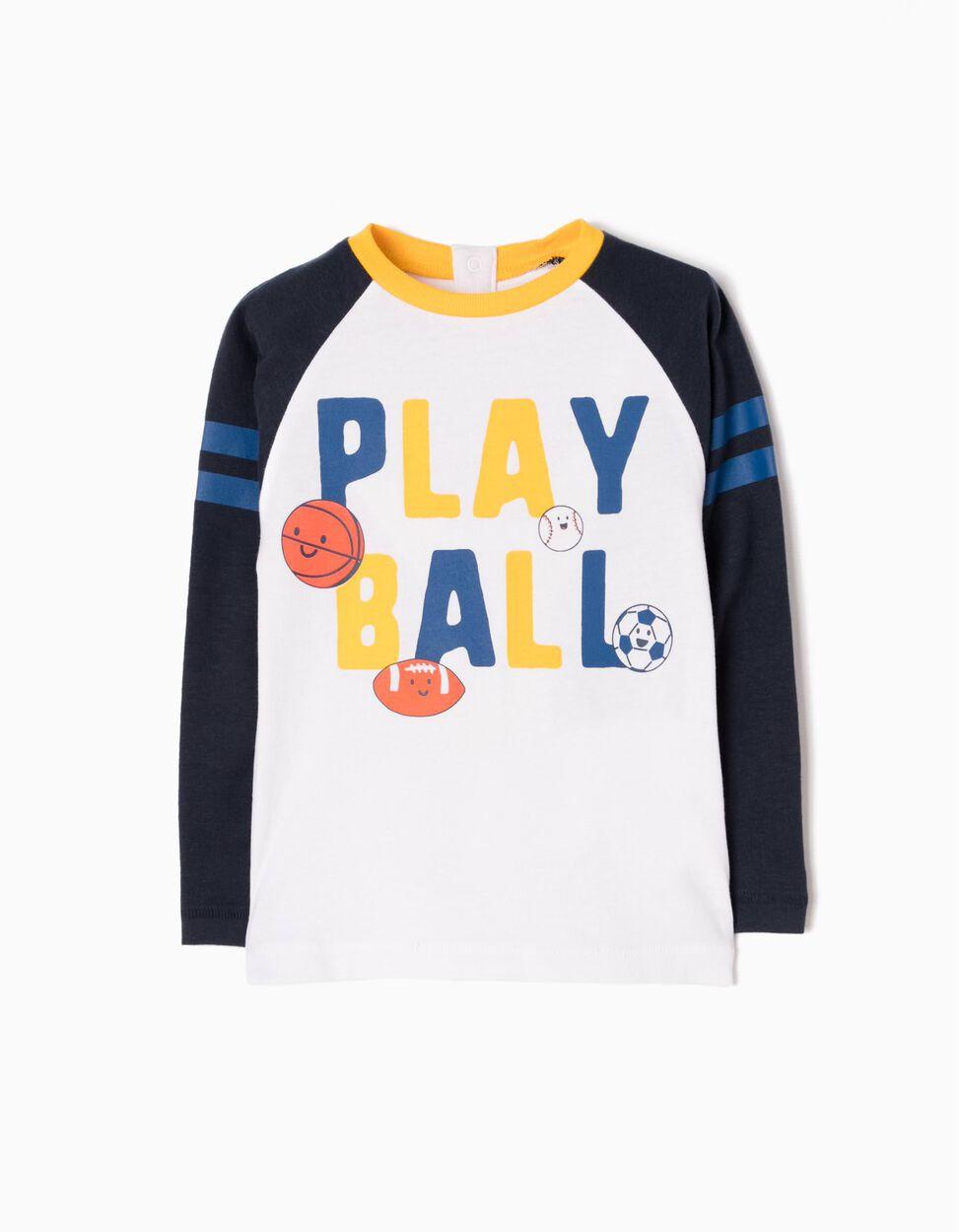 Camiseta de Manga larga Estampada Playball