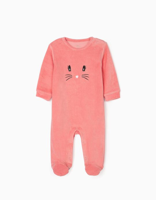Sleepsuit for Baby Girls 'Kitty', Pink