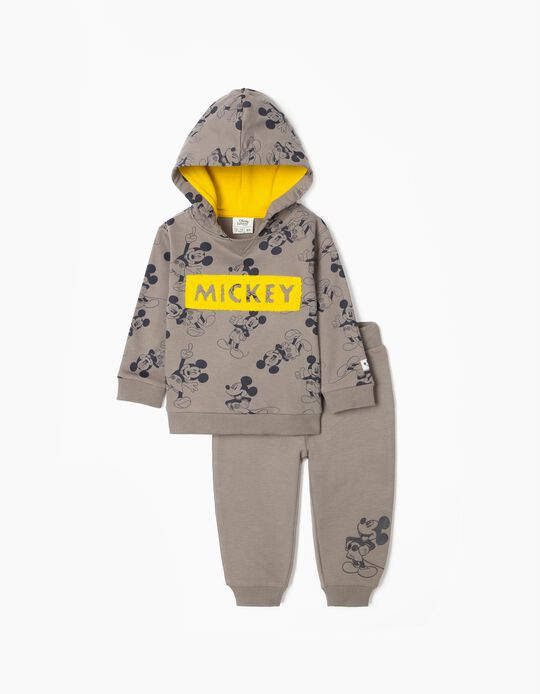 Tracksuit for Baby Boys 'Mickey', Grey/Yellow
