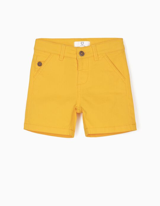 Twill Shorts for Baby Boys, Yellow