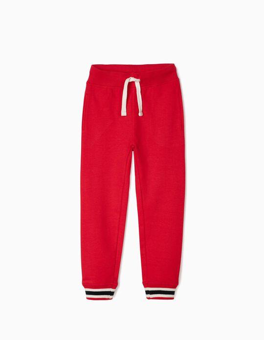 Pantalon de sport garçon, rouge