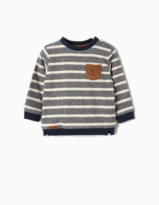 Sweatshirt para Recém-Nascido ' Riscas', Azul