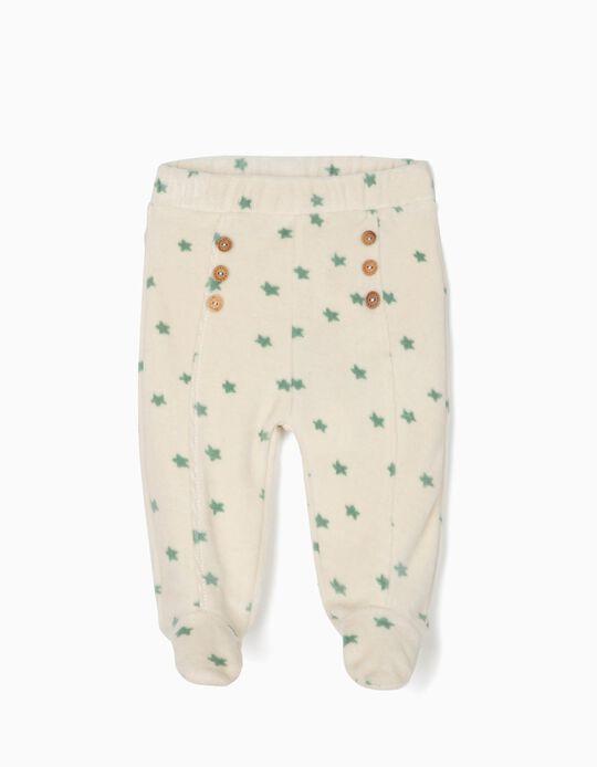 Pantalón con Pies Estrellitas Algodón Orgánico
