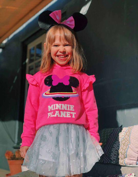 Sudadera con Capucha para Niña 'Minnie Planet', Rosa