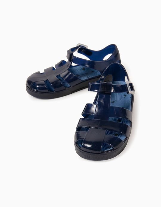 Sandals for Boys, 'Palm Tree', Blue