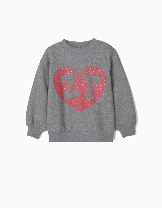 Sweatshirt para Menina 'ZY', Cinza