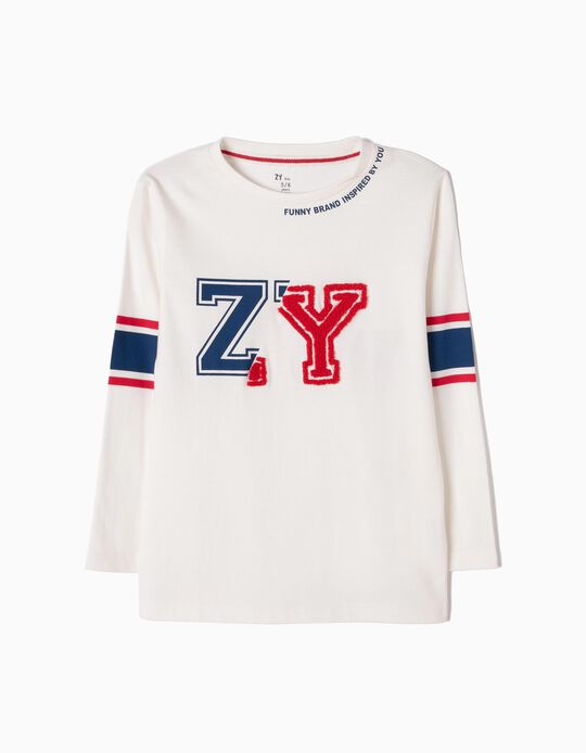 T-shirt Manga Comprida ZY Branca