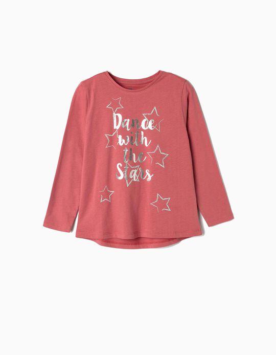 Camiseta de Manga Larga para Niña 'Dance', Rosa