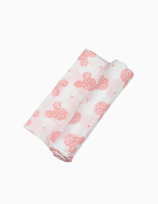 Fralda Bambu Minnie Disney Pink 120X120Cm