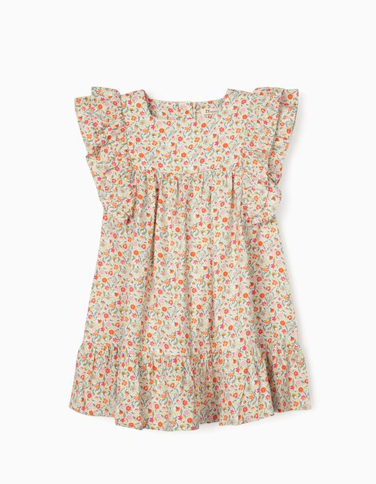 Floral Dress for Baby Girls, Multicoloured