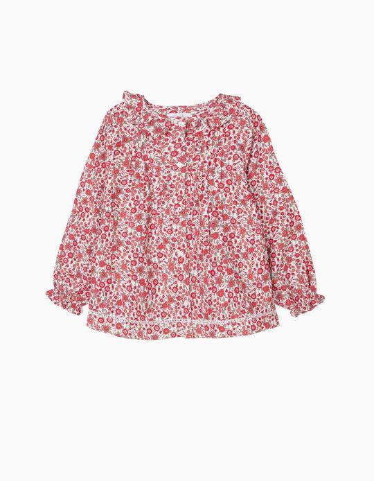 Blusa para Menina 'Flores', Vermelho