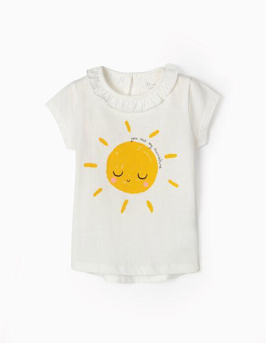 Camiseta para Bebé Niña 'Sunshine', Blanca
