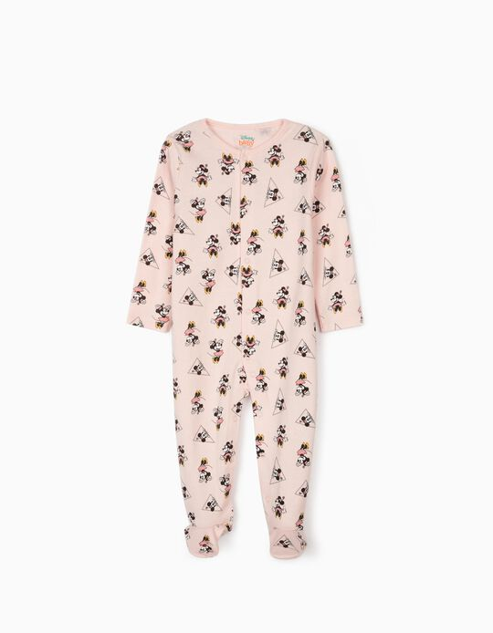 Sleepsuits for Baby Girls, 'Minnie Mouse', Pink