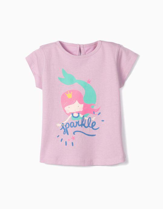 Camiseta para Bebé Niña 'Sparkle', Lila