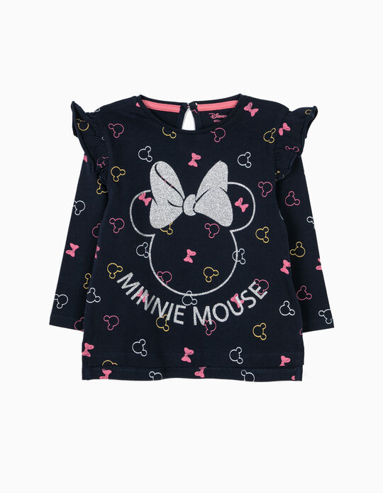 T-shirt Manga Comprida Azul Minnie
