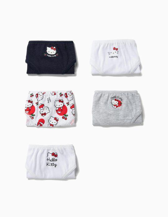 5 Braguitas para Niña 'Hello Kitty', Multicolor
