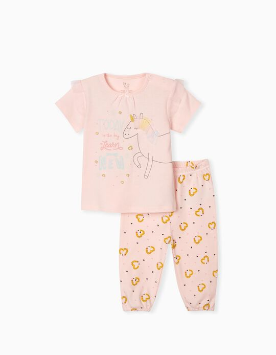 Pijama para Bebé Menina 'Unicorn', Rosa
