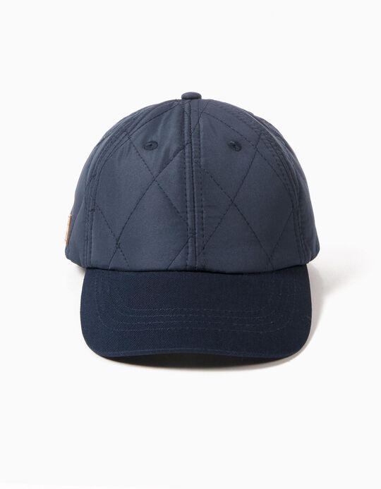 Gorra Azul Acolchada