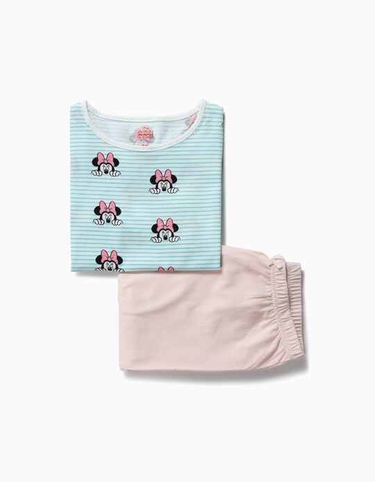 Pijama para Menina 'Minnie', Azul e Bege