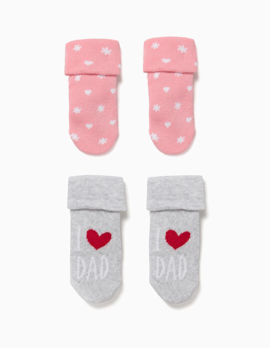 Pack 2 Calcetines Dad Rosa y Gris