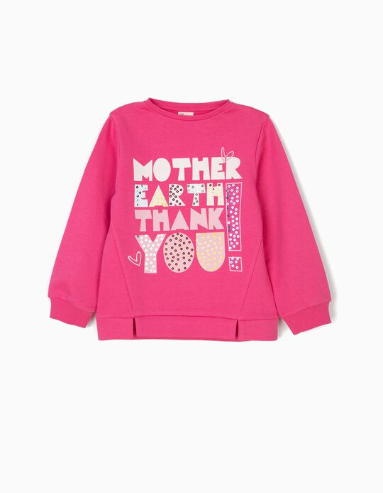 Sudadera para Niña 'Mother Earth', Rosa
