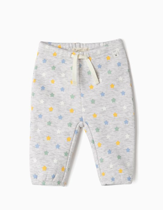 Trousers for Newborn Boys 'Stars', Grey