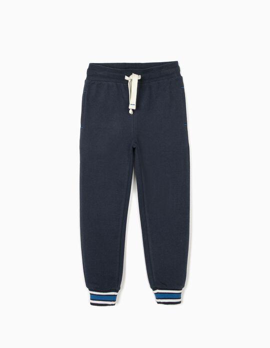 Pantalón de Chándal para Niño, Azul Oscuro