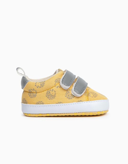 Zapatillas de Tejido para Recién Nacido, Amarillo