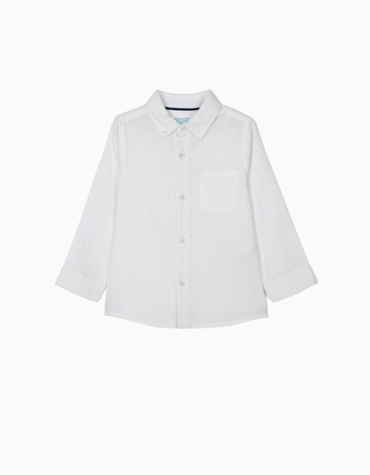 Camisa para Bebé Niño 'B&S', Blanca