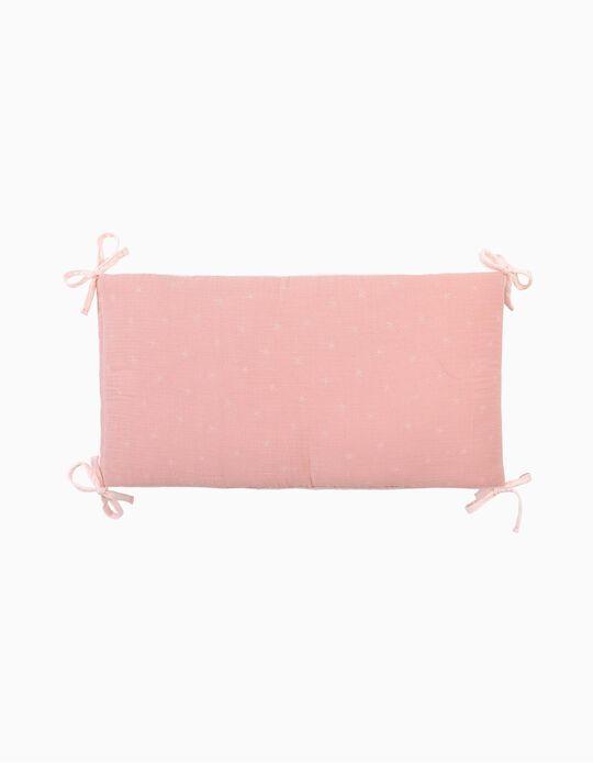 Resguardo De Cama Musselina Stars Pink