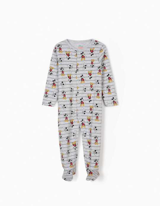 Sleepsuit for Baby Boys, 'Mickey Mouse', Grey