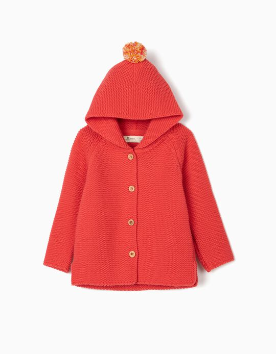 Hooded Cardigan for Baby Girls, Pink