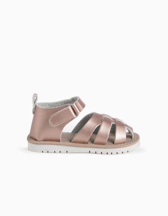 Sandalias Rosa Metalizadas