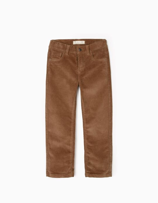 Corduroy Trousers for Boys, Camel