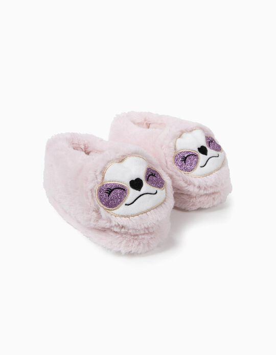 Zapatillas de Casa Fantasía para Niña 'Queen Sloth', Rosa