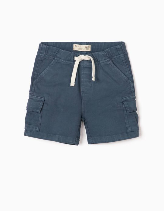 Cargo Shorts for Baby Boys, Blue