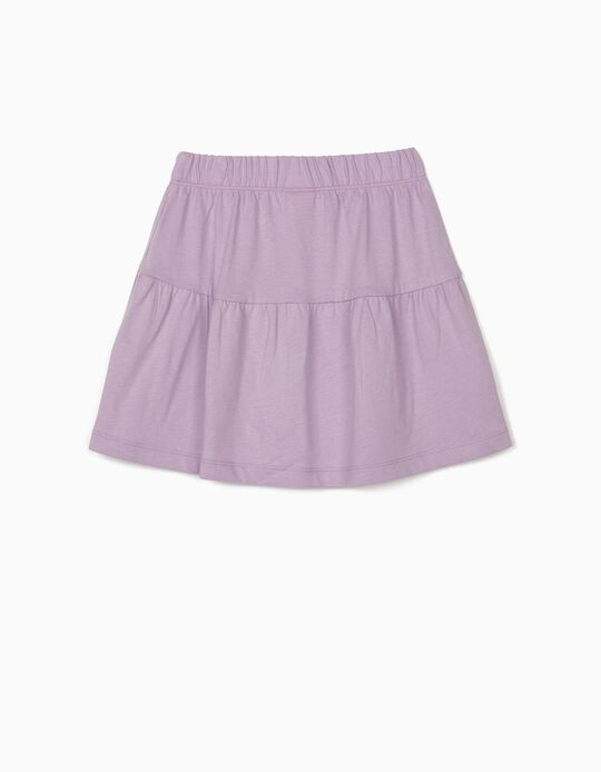 Jersey Knit Skirt for Girls, Lilac