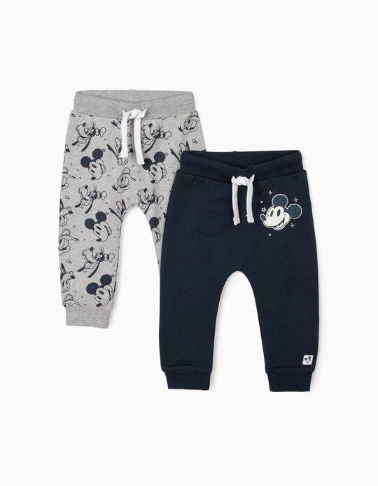 2 Pantalones de Chándal para Bebé Niño 'Disney', Gris/Azul