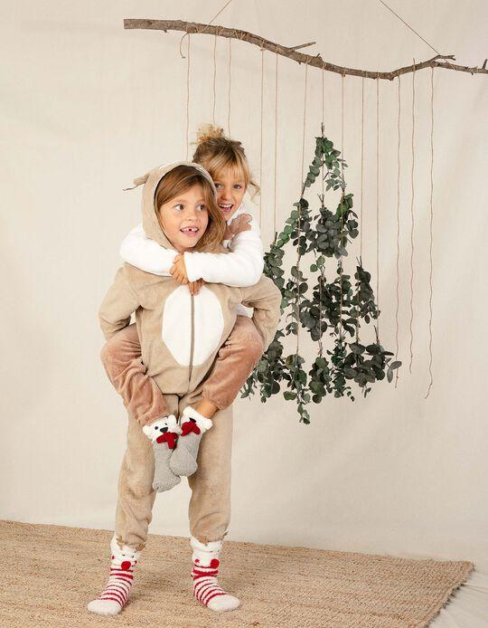 Pijama Mono para Niños 'Reindeer', Marrón