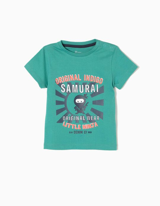Camiseta Little Ninja Verde