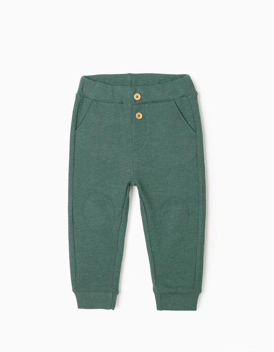 Pantalón de Chándal Gofrado para Bebé Niño, Verde