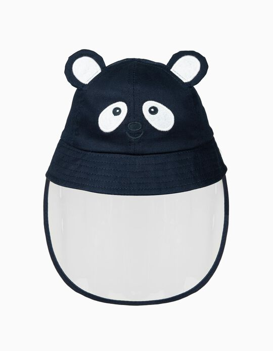 Hat with TPU Visor 'Panda', Dark Blue