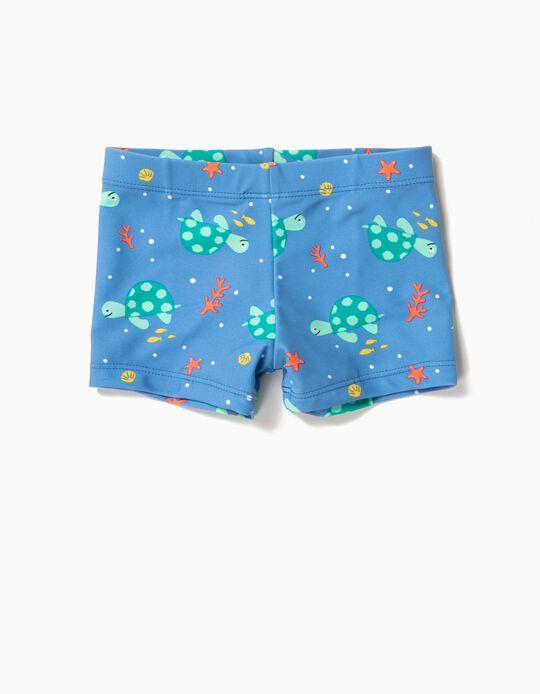 Bañador Short para Bebé Niño 'Tortugas' Antirrayos UV 80, Azul
