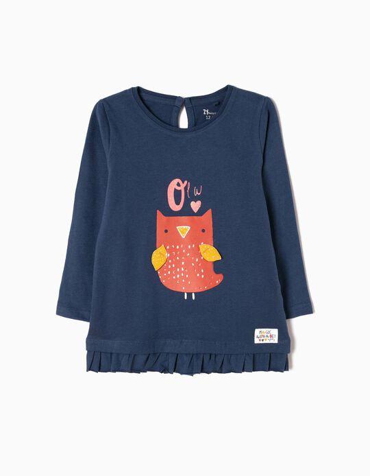 Camiseta de Manga Larga Estampada Owl