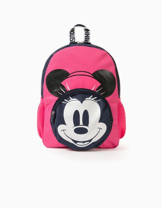Mochila para Bebé Menina 'Pink Hat Minnie', Rosa/Azul Escuro