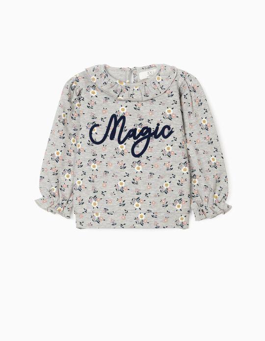 Sweatshirt para Bebé Menina 'Magic', Cinza