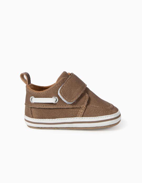 Sapatos Encerados para Recém-Nascido, Camel